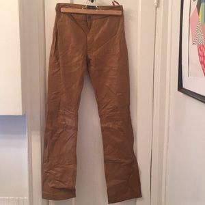 Steve Madden Tan Leather Pants